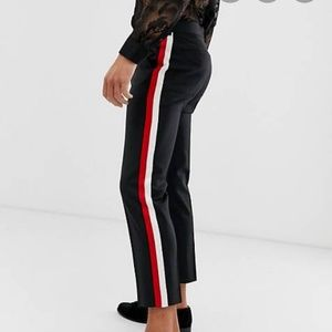 ASOS Relaxed Crop Stripe Pants